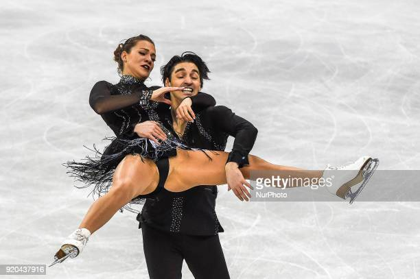 Agafonova Alisa and Ucar Alper of  Turkey competing in free dance at Gangneung Ice Arena Gangneung South Korea on Feburary 19 2018