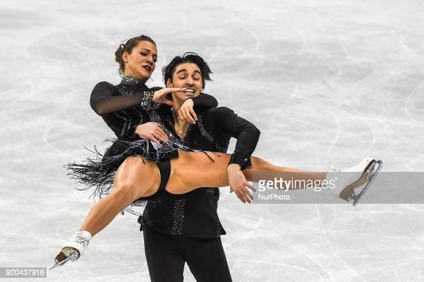 Agafonova Alisa and Ucar Alper of Turkey competing in free dance at Gangneung Ice Arena Gangneung South Korea on Feburary 19 2018