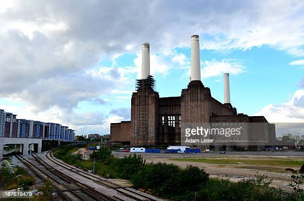 CONTENT] Against a cloudy blue sky London's iconic Battersea Power Station and surrounding land stand waiting for the redevelopment of the area to...