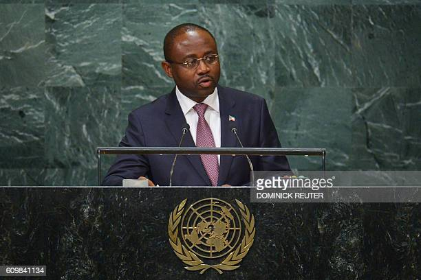 Agapito Mba Mokuy Minister for Foreign Affairs of Equatorial Guinea addresses the 71st session of the United Nations General Assembly at the UN...