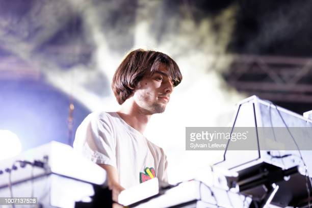 Agar Agar's Armand Bultheel performs live on stage during Nuits Secretes Festival day 2 on July 28 2018 in AulnoyeAymeries France