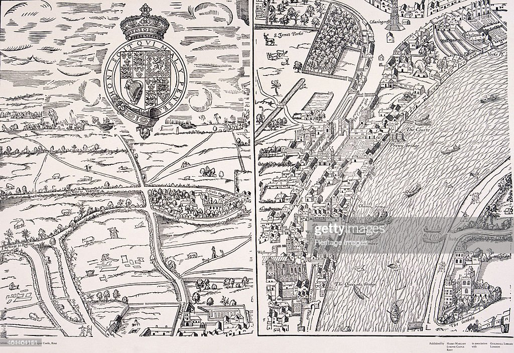 Agas Map of London c1561 Pictures Getty Images