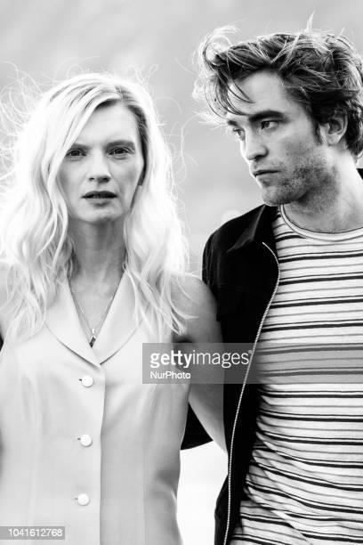 Agata Buzek and Robert Pattinson attend 'High Life' photocall during 66th San Sebastian Film Festival on September 26 2018 in San Sebastian Spain
