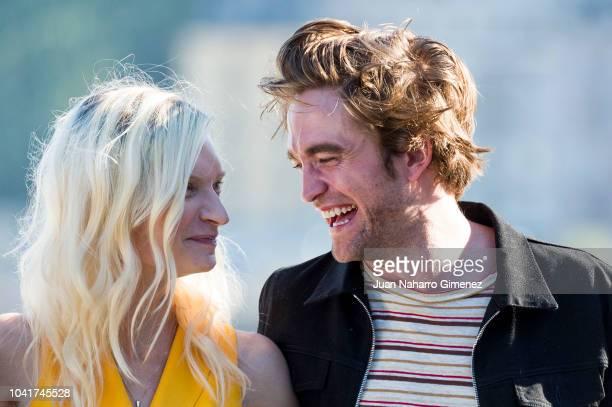 Agata Buzek and Robert Pattinson attend the 'High Life' photocall during the 66th San Sebastian International Film Festival on September 27 2018 in...