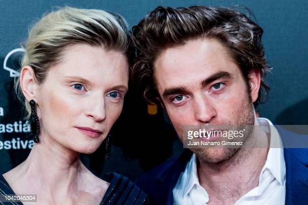 Agata Buzek and Robert Pattinson attend the 'High Life' premiere during the 66th San Sebastian International Film Festival on September 27 2018 in...