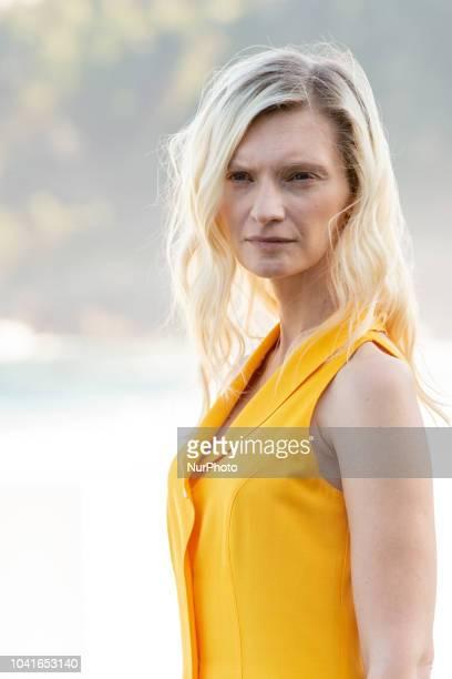 Agata Buzek attends 'High Life' photocall during 66th San Sebastian Film Festival on September 26 2018 in San Sebastian Spain