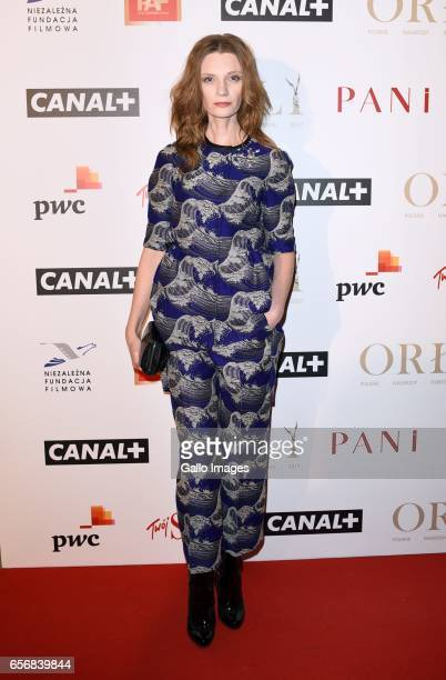 Agata Buzek attends Orly 2017 award gala on March 20 2017 at Teatr Polski in Warsaw Poland Orly an annual award from Polish Film Academy organized by...