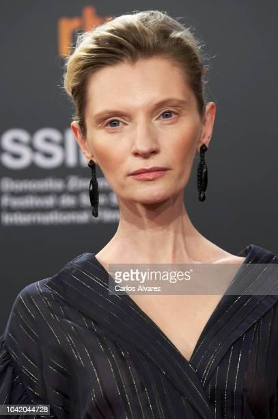 Agata Buzek attends the 'High Life' premiere during the 66th San Sebastian International Film Festival on September 27 2018 in San Sebastian Spain