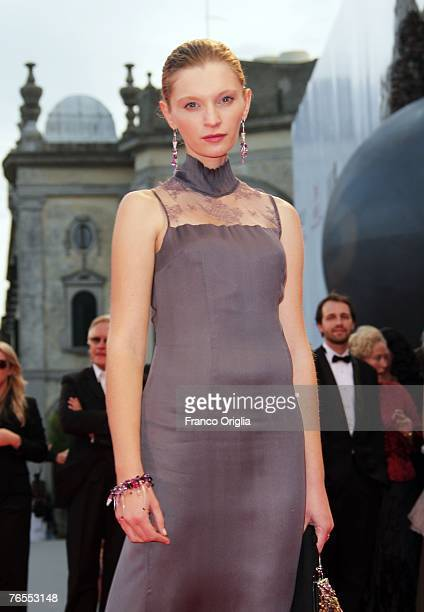 Agata Buzek attends the Nightwatching premiere in Venice during day 9 of the 64th Venice Film Festival on September 6 2007 in Venice Italy