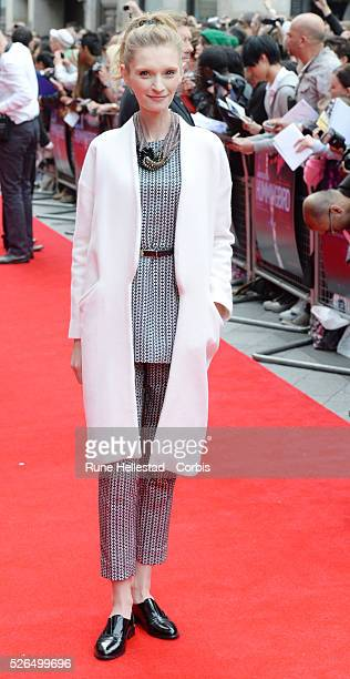 Agata Buzek attends the premiere of Hummingbird at Odeon West End