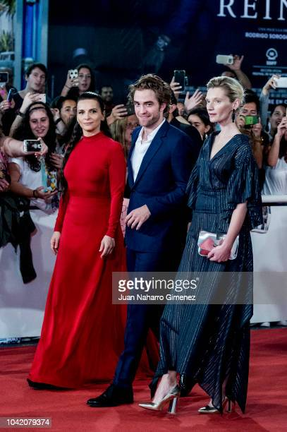 Agata Buzek Juliette Binoche and Robert Pattinson attend the 'High Life' premiere during the 66th San Sebastian International Film Festival on...