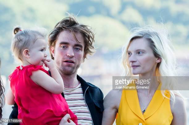 Agata Buzek Scarlett Lindsey and Robert Pattinson attend the 'High Life' photocall during the 66th San Sebastian International Film Festival on...