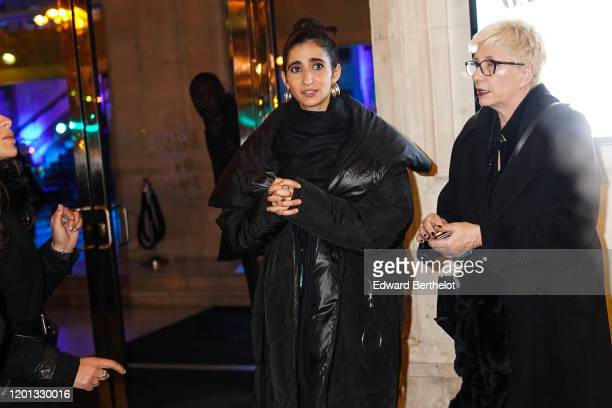 Agata Jimenez who portrays the character Nairobi in the Netflix series La Casa de Papel is seen outside the JeanPaul Gaultier show during Paris...