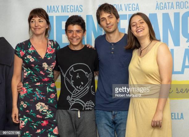 Agata Roca Max Megias Director Sergi Portabella and Claudia Vega attend a photocall for JeanFrancois el Sentit de la Vida at the Instituto Frances de...