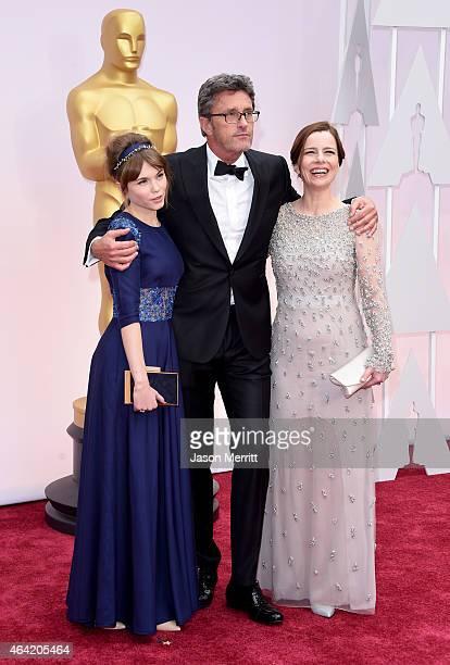 Agata Trzebuchowska, Director Pawel Pawlikowski and Agata Kulesza attend the 87th Annual Academy Awards at Hollywood & Highland Center on February...
