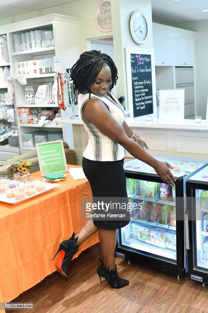 Agatha Achindu attends First Foods 101/Yummy Spoonfuls at Pump Station Nurtury on October 11 2017 in Los Angeles California