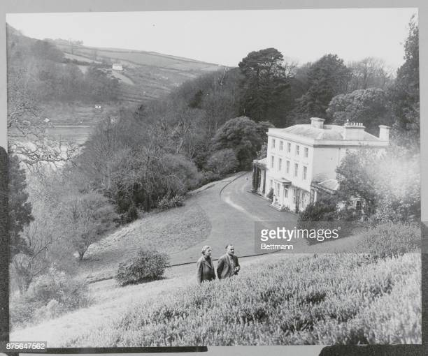 Agatha Christie and Husband at Greenway House
