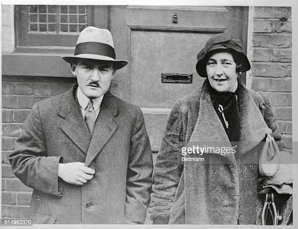 Agatha Christie and husband Professor Max Mallowan leave their home in London at the start of their journey to north Iraq on archaeological research