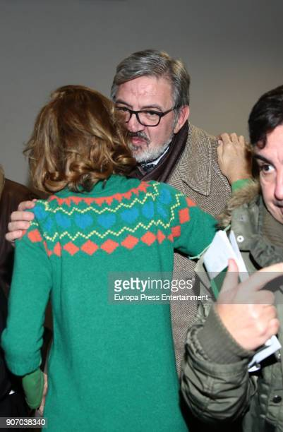 Agatha Ruiz de la Prada and Carlos Garcia Revenga attend the presentation of the book 'Final de Partida' a book that talks about King Juan Carlos's...