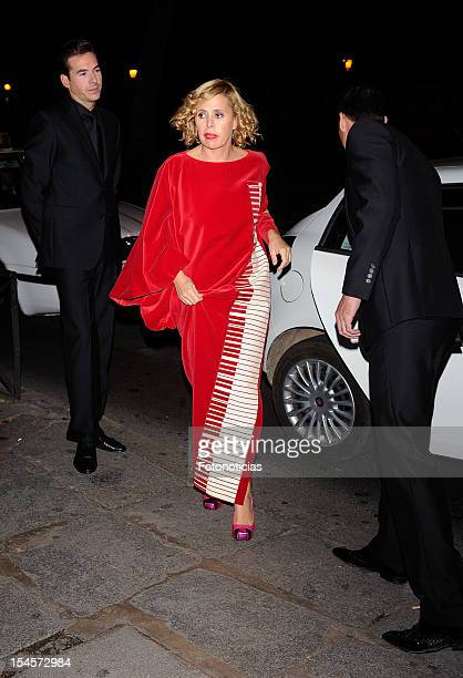 Agatha Ruiz de la Prada arrives to the 'Cartier Exhibition' gala presentation at the Museum Thyssen Bornemisza on October 22 2012 in Madrid Spain