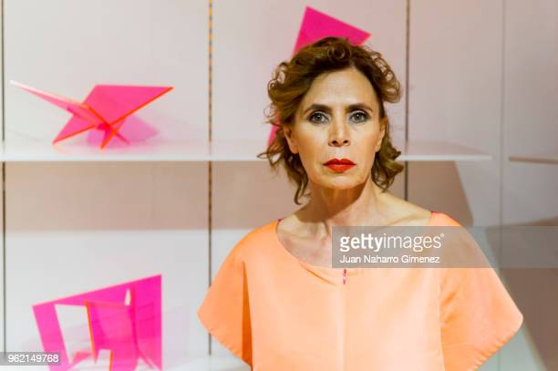 Agatha Ruiz de la Prada attends Alejandro Dron's Exhibition at Agatha Ruiz de la Prada store on May 24 2018 in Madrid Spain