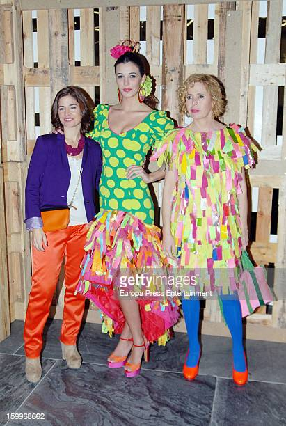 Agatha Ruiz de la Prada attends Ecoflamenca Fashion Catwalk at Palacio de Exposiciones y Congresos on January 23 2013 in Seville Spain