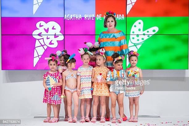 Agatha Ruiz de la Prada attends FIMI 2016 Fashion Show at 'Palacio de Cristal' on June 24 2016 in Madrid Spain