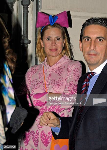 Agatha Ruiz de la Prada attends the opening of 'Yves Saint Laurent' exhibition on October 4 2011 in Madrid Spain