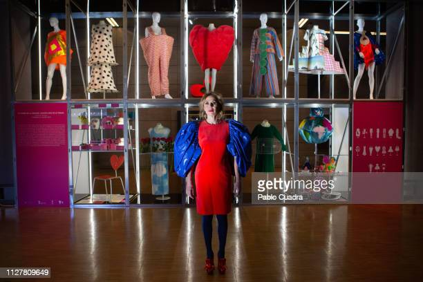 Agatha Ruiz de la Prada attends the openingo of her exhigbition 'El poder De La Imagen' at 'Museo del Traje on February 06 2019 in Madrid Spain