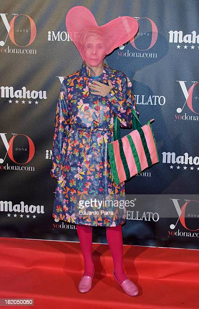 Agatha Ruiz de la Prada attends Yo Dona mask dance party photocall at Madrid Casino on February 18 2013 in Madrid Spain
