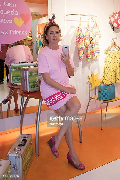 Agatha Ruiz de la Prada designer unveils new mobile phone LG brand in Madrid on June 20 2016