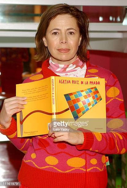 Agatha Ruiz de la Prada during Agatha Ruiz de la Prada Launches Her New Book 'Objetos' in Madrid Spain