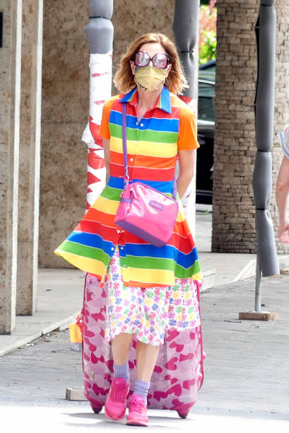 Agatha Ruiz de la Prada is seen on June 04 2020 in Madrid Spain