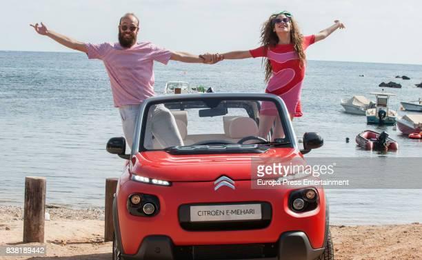 Agatha Ruiz de la Prada's sons Cosima Ramirez de la Prada and Tristan Ramirez de la Prada present the new Citroen EMehari on July 18 2017 in Ibiza...