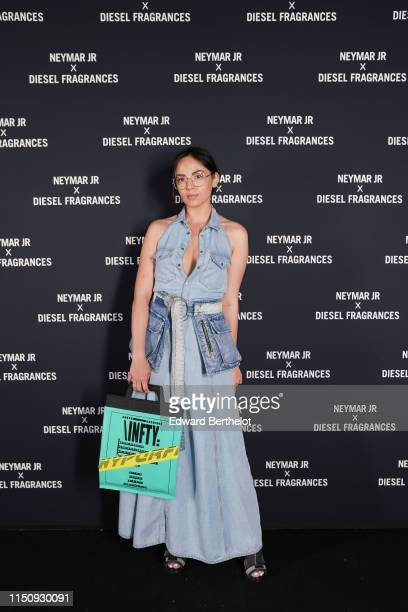 Agathe Auproux arrives at Diesel 'Spirit of the Brave' Perfume Launch Party at Salle Wagram on May 21, 2019 in Paris, France.
