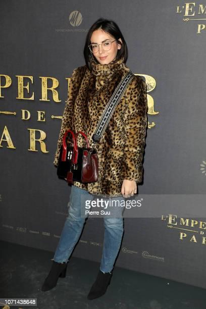 """Agathe Auproux attends """"L'Empereur De Paris"""" Paris Premiere At Gaumont Opera theater on December 10, 2018 in Paris, France."""