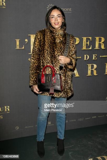 Agathe Auproux attends the 'L'Empereur de Paris' Premiere at cinema Gaumont Opera on December 10, 2018 in Paris, .