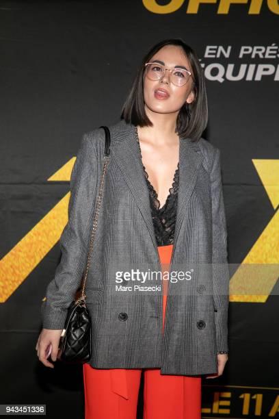 Agathe Auproux attends the 'Taxi 5' Premiere at Le Grand Rex on April 8 2018 in Paris France
