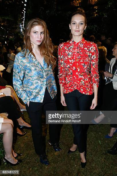 Agathe Bonitzer and Ana Girardot attend the Christian Dior Haute Couture Spring Summer 2017 show as part of Paris Fashion Week on January 23 2017 in...