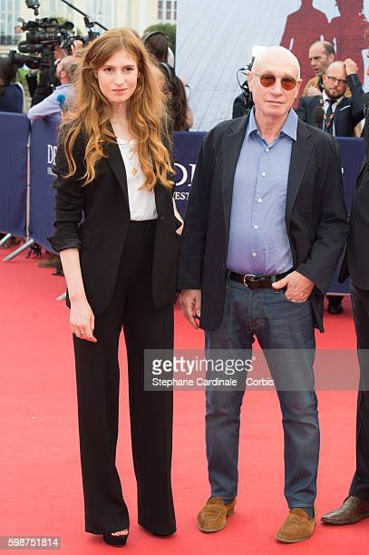 Agathe Bonitzer and his father Pascal Bonitzer attend the Opening Ceremony of the 42nd Deauville American Film Festival on September 2 2016 in...