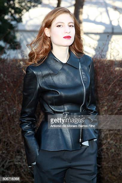 Agathe Bonitzer attends the Christian Dior Haute Couture Spring Summer 2016 show as part of Paris Fashion Week on January 25 2016 in Paris France