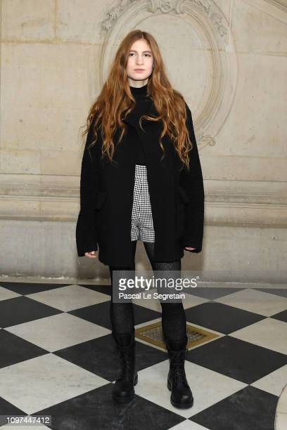 Agathe Bonitzer attends the Christian Dior Haute Couture Spring Summer 2019 show as part of Paris Fashion Week on January 21 2019 in Paris France