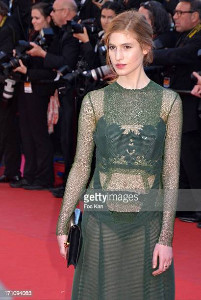 Agathe Bonitzer attends 'The Immigrant' Premiere during the 66th Annual Cannes Film Festival at Grand Theatre Lumiere on May 24 2013 in Cannes France