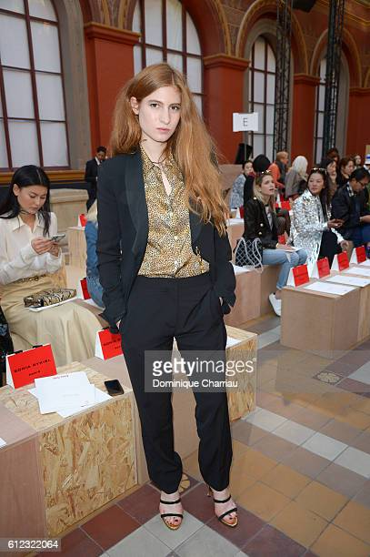 Agathe Bonitzer attends the Sonia Rykiel show as part of the Paris Fashion Week Womenswear Spring/Summer 2017 on October 3 2016 in Paris France