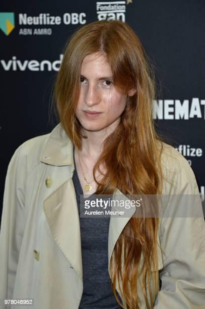 Agathe Bonitzer attends the 'Un Couteau Dans Le Coeur' Paris premiere at la cinematheque on June 18 2018 in Paris France