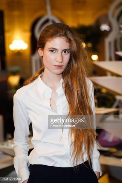 Agathe Bonitzer French actress attends the 'L'Art Et L'Ame De La Thailande' Gala Dinner In Paris at the hotel InterContinental Paris Le Grand on...