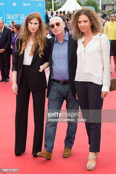 Agathe Bonitzer his father Pascal Bonitzer and guest attend the Opening Ceremony of the 42nd Deauville American Film Festival on September 2 2016 in...