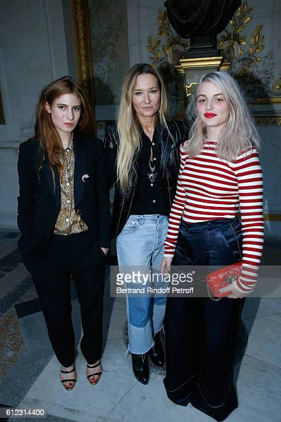 Agathe Bonitzer Stylist Julie de Libran and Lou RoyLecollinet pose after the Sonia Rykiel show as part of the Paris Fashion Week Womenswear...