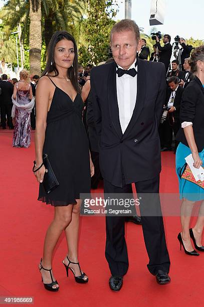 Agathe Borne and Patrick Poivre d'Arvor attend 'The Homesman' Premiere at the 67th Annual Cannes Film Festival on May 18 2014 in Cannes France