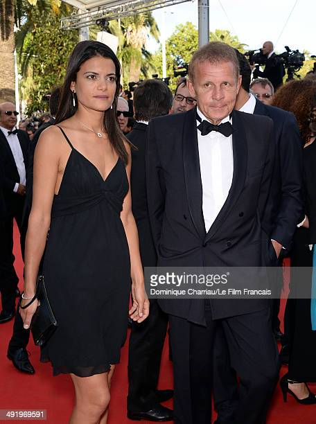 Agathe Borne and Patrick Poivre d'Arvor attends 'The Homesman' Premiere at the 67th Annual Cannes Film Festival on May 18 2014 in Cannes France